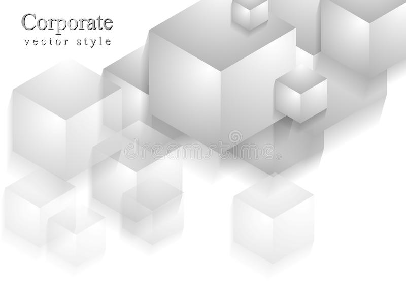 Le résumé cube le fond de technologie illustration libre de droits
