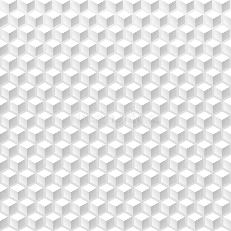 Le résumé cube le fond sans couture illustration de vecteur