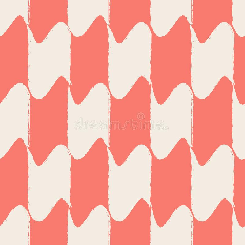 Le résumé forme le fond sans couture Corail et couleurs claires vivants Vecteur eps10 illustration stock
