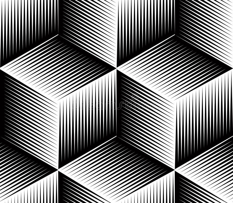 Le résumé monochrome entrelacent le modèle sans couture géométrique illustration libre de droits