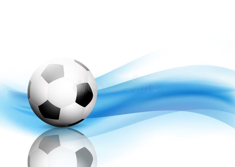 Le résumé ondule le fond avec le football/ballon de football illustration stock