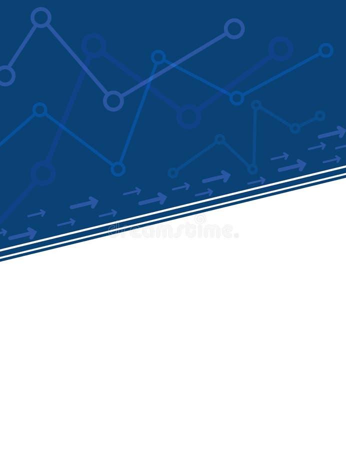 Le résumé représente graphiquement la couverture d'entreprise bleue illustration stock