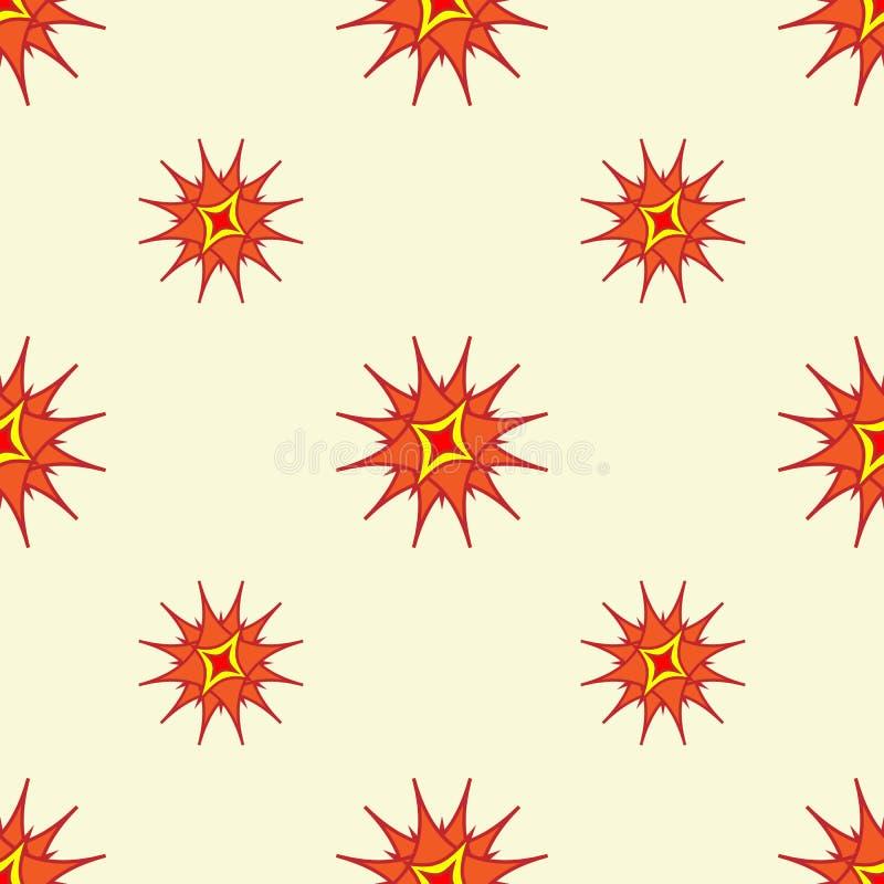 Le résumé stylisé tient le premier rôle le fond Répétition du modèle géométrique dans des couleurs chaudes lumineuses illustration libre de droits
