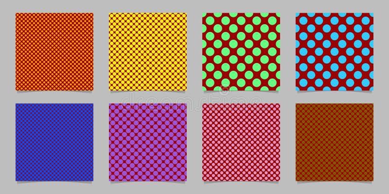 Le rétro calibre sans couture abstrait de modèle de fond de point de polka a placé - dirigez la collection des cercles colorés illustration libre de droits