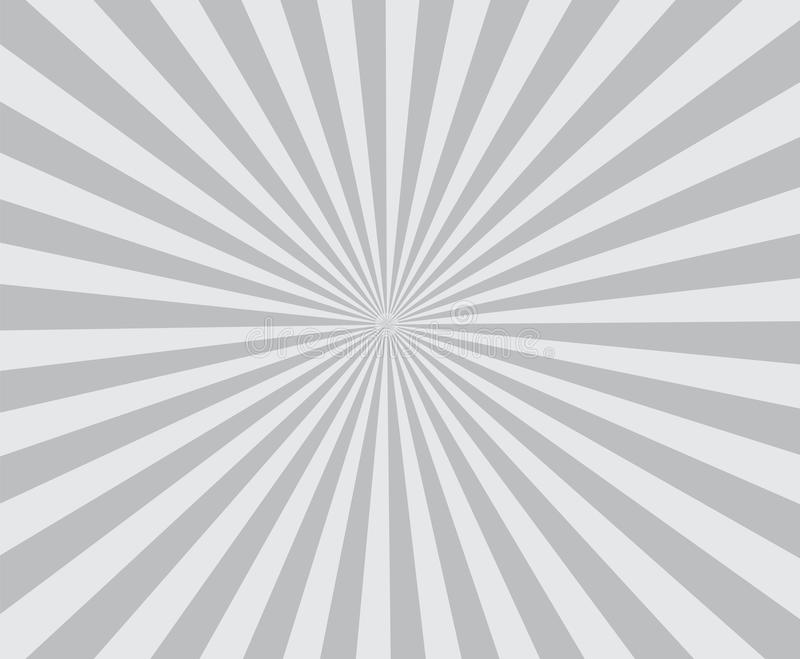 Le rétro gris de fond de Ray coloré rayonne élégant illustration libre de droits
