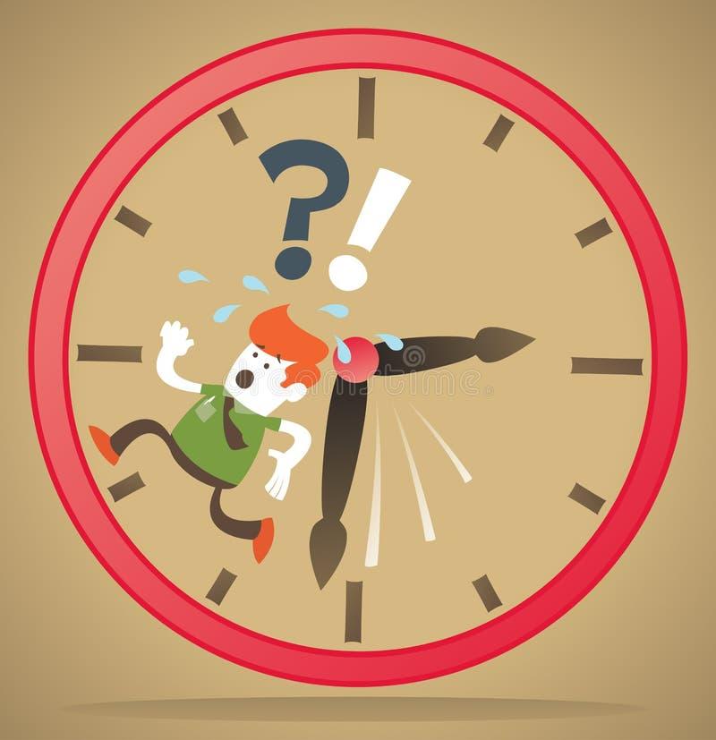 Le rétro type d'entreprise manque de temps. illustration libre de droits