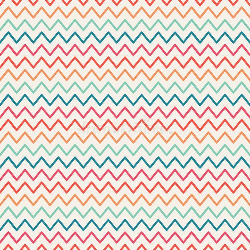 Le rétro zigzag de chevron de vecteur barre géométrique illustration stock