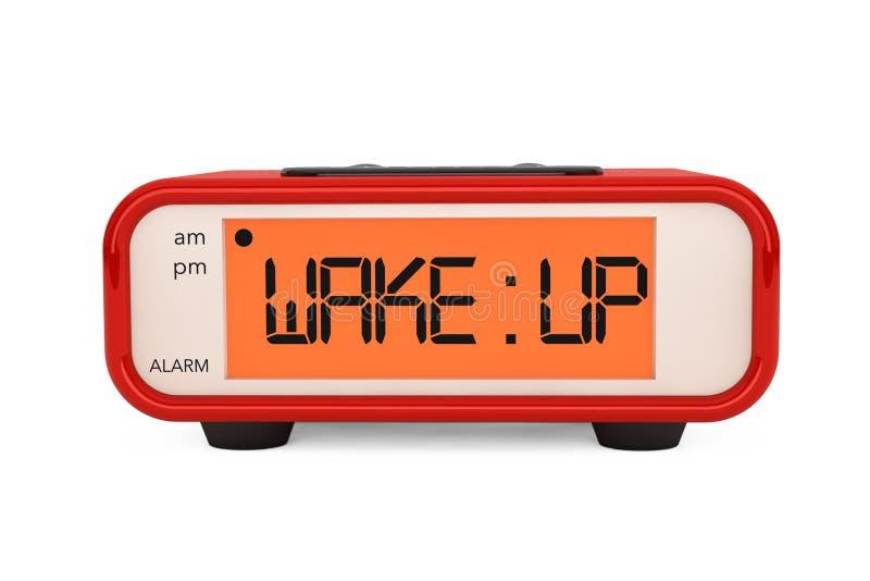 Le réveil moderne de Digital avec réveillent le signe photos libres de droits