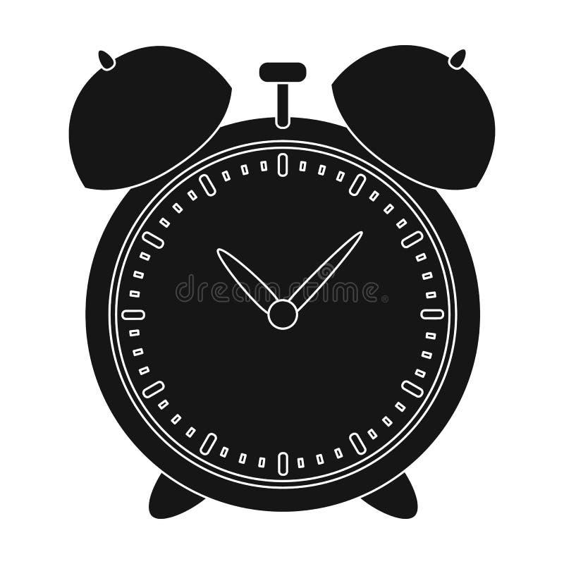 Le réveil pour tôt se réveillent à l'école Observez pour pour ne pas être en retard pour l'école Icône simple d'école et d'éducat illustration de vecteur
