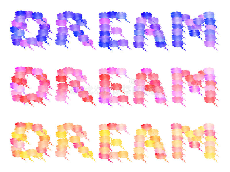 Le rêve des rêves en couleurs de rêver bouillonne BAL image libre de droits