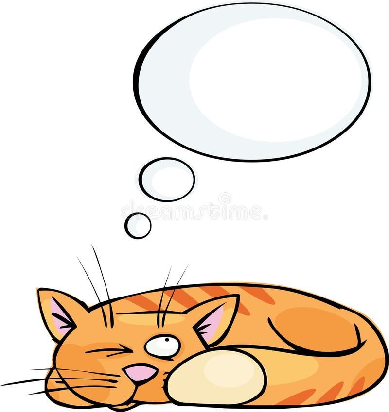 Le rêve du chat illustration stock