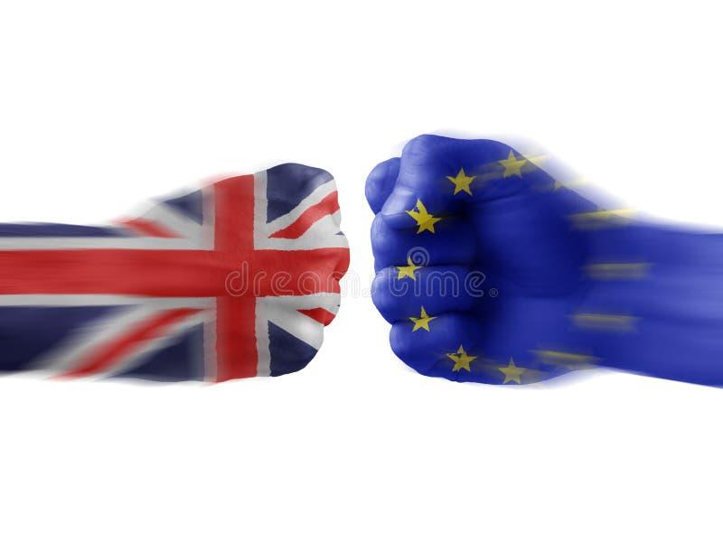 Le R-U et l'UE - désaccord photographie stock