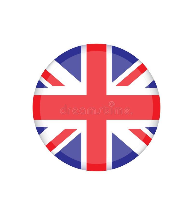 LE R-U Union Jack Indicateur du Royaume-Uni Couleurs officielles Proportion correcte illustration libre de droits