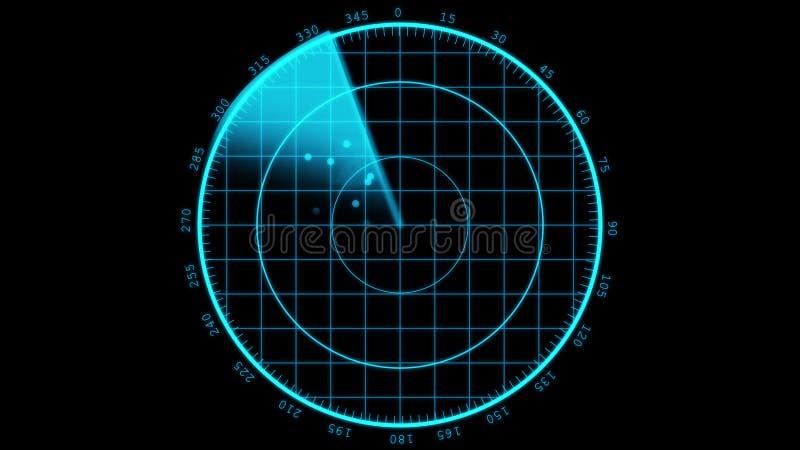 Le radar moderne sreen l'affichage illustration libre de droits