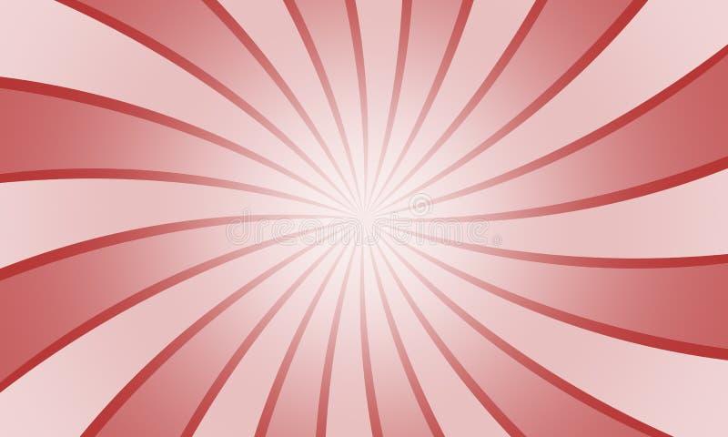 Le radial rouge grunge de vintage raye le fond illustration libre de droits