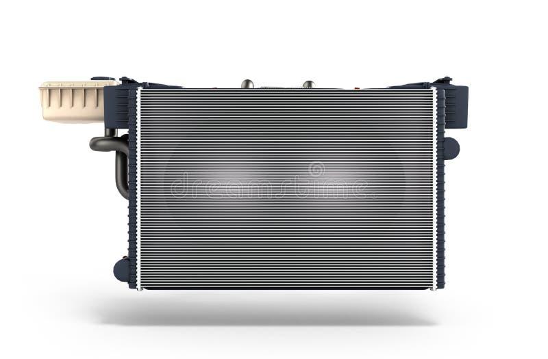 Le radiateur de voiture d'isolement sur le fond blanc 3d rendent illustration libre de droits
