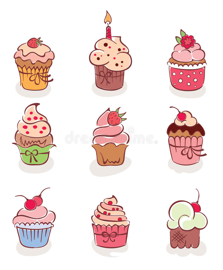 Le ramassage - beaux gâteaux illustration stock
