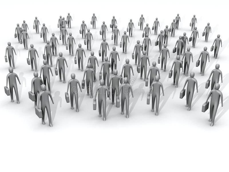 Le rassemblement illustration de vecteur
