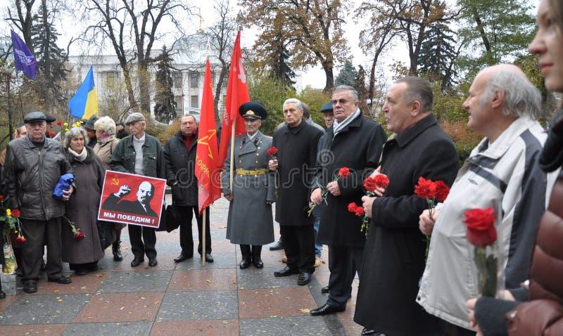 Le rassemblement a quitté les villages d'Ukraine_3 photo stock