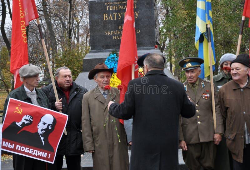 Le rassemblement a quitté les villages d'Ukraine_13 image stock