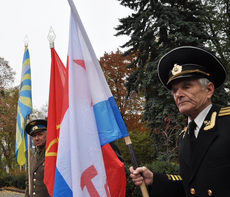 Le rassemblement a quitté les villages d'Ukraine_10 photo stock