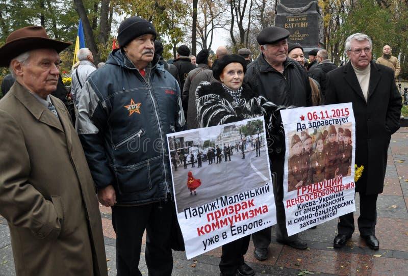 Le rassemblement a quitté les villages d'Ukraine_9 images libres de droits