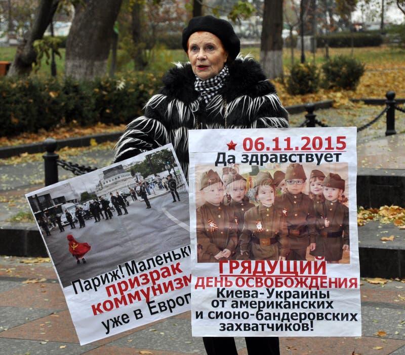 Le rassemblement a quitté les villages d'Ukraine_14 photos stock