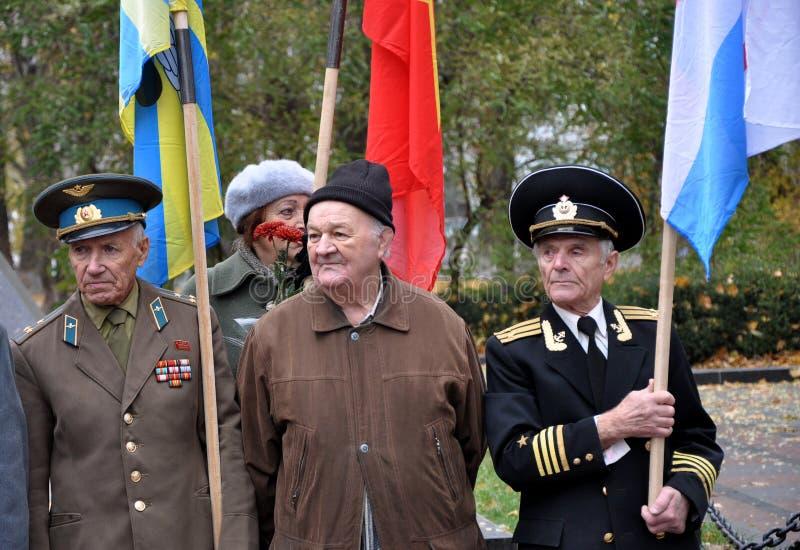 Le rassemblement a quitté les villages d'Ukraine_5 images libres de droits