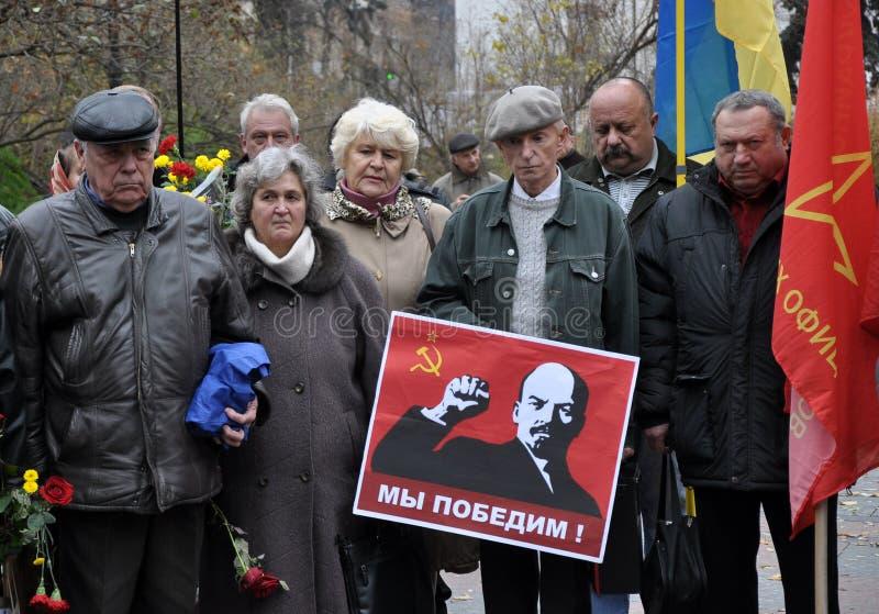 Le rassemblement a quitté les villages d'Ukraine_6 photographie stock