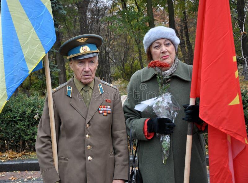 Le rassemblement a quitté les villages d'Ukraine_2 photos libres de droits