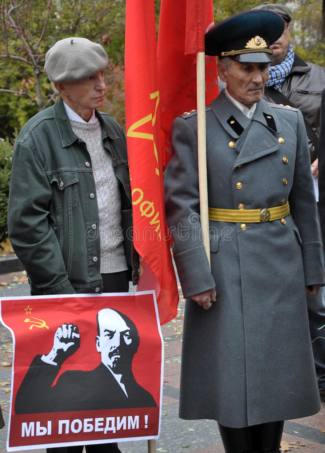 Le rassemblement a quitté les villages d'Ukraine_11 photographie stock libre de droits