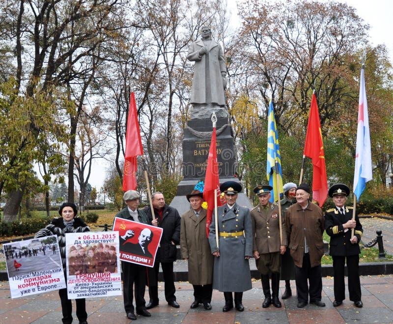 Le rassemblement a quitté les villages de l'Ukraine images stock