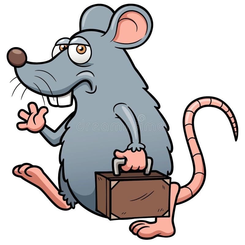 Le rat de bande dessinée sortent illustration de vecteur