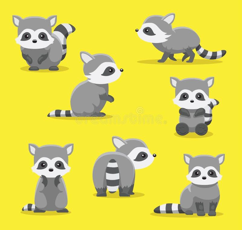 Download Le Raton Laveur Mignon Pose L'illustration De Vecteur De Bande Dessinée Illustration de Vecteur - Illustration du caractère, animal: 87703262