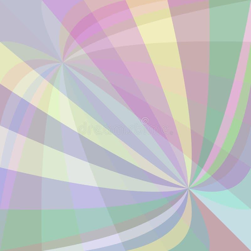 Le rayon incurvé multicolore a éclaté le fond - dirigez l'illustration des rayons de tourbillonnement illustration libre de droits