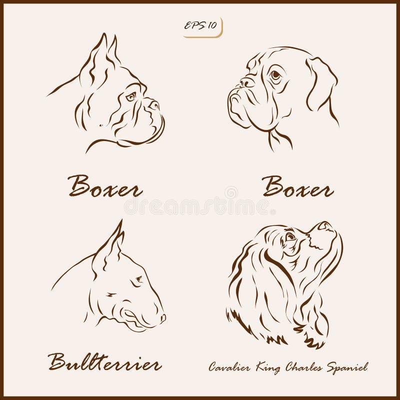 Le razze del cane royalty illustrazione gratis