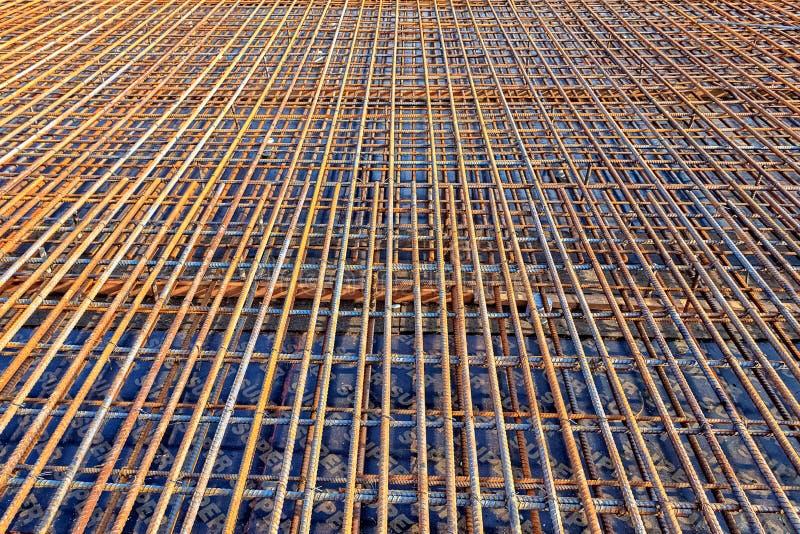 Le Rebar en acier pour a renforcé le pont concret photographie stock libre de droits