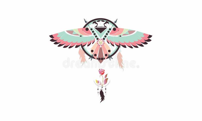 le receveur du rêve de l'aigle illustration libre de droits