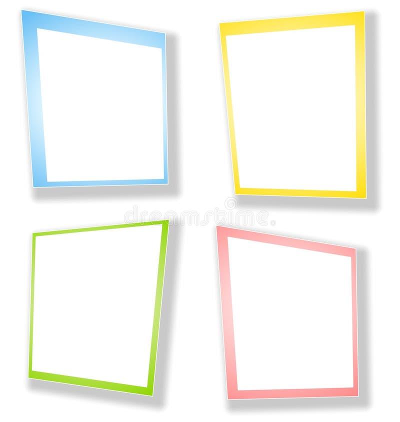 Le rectangle abstrait encadre des cadres illustration de vecteur