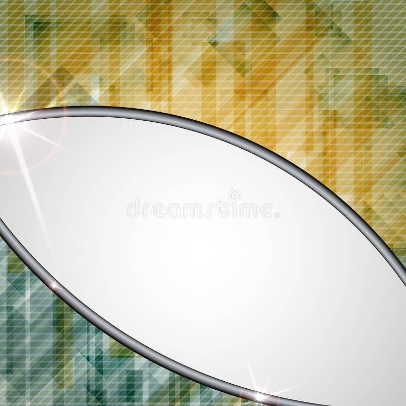 Le rectangle jaune abstrait forme le fond. illustration stock