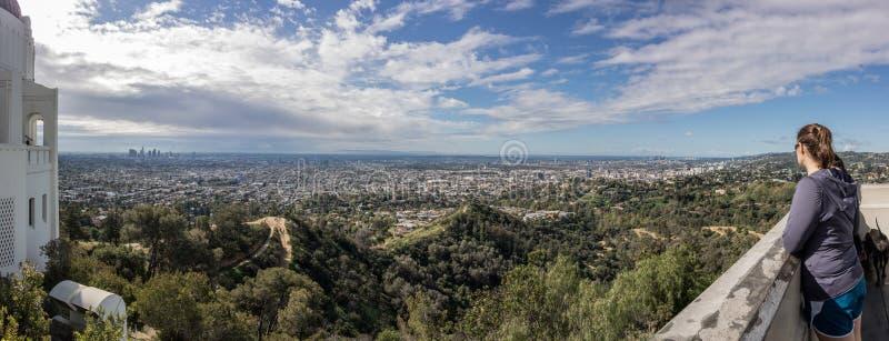 Le regard au-dessus de la LA de donnent sur image libre de droits