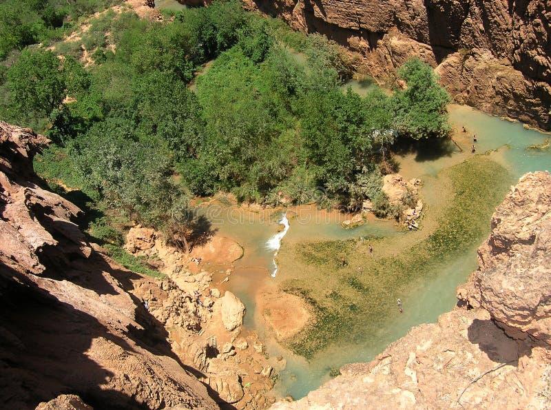 Le regroupement de la cascade à écriture ligne par ligne, Arizona photo libre de droits