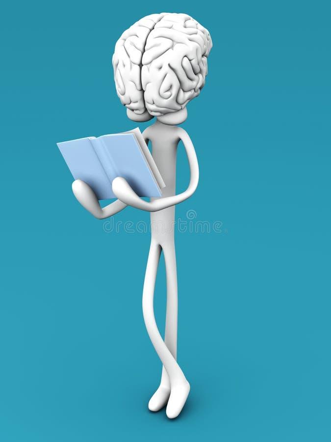 Le relevé de cerveau illustration stock