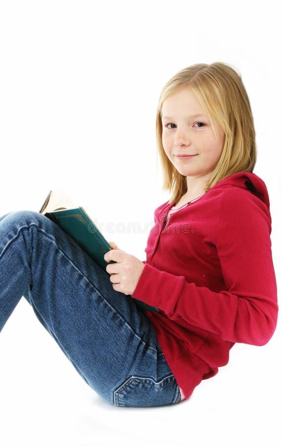 Le relevé de jeune fille photo libre de droits