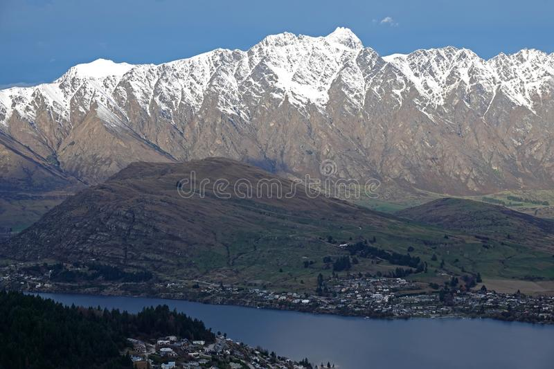 Le Remakables et Queenstown de la gondole, Nouvelle-Zélande photographie stock