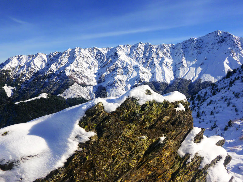 Le Remarkables Ski Area Queenstown New Zealand image stock