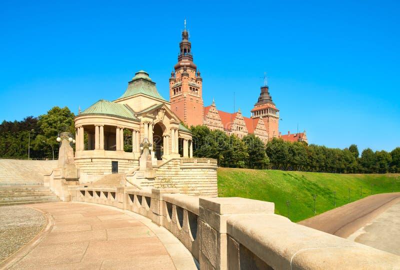 Le remblai de Chrobry, Szczecin en Pologne image libre de droits