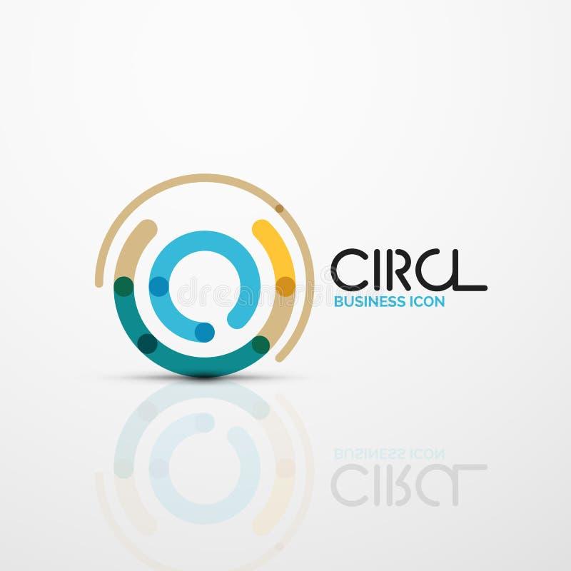 Le remous abstrait raye le symbole, icône de logo de cercle illustration libre de droits