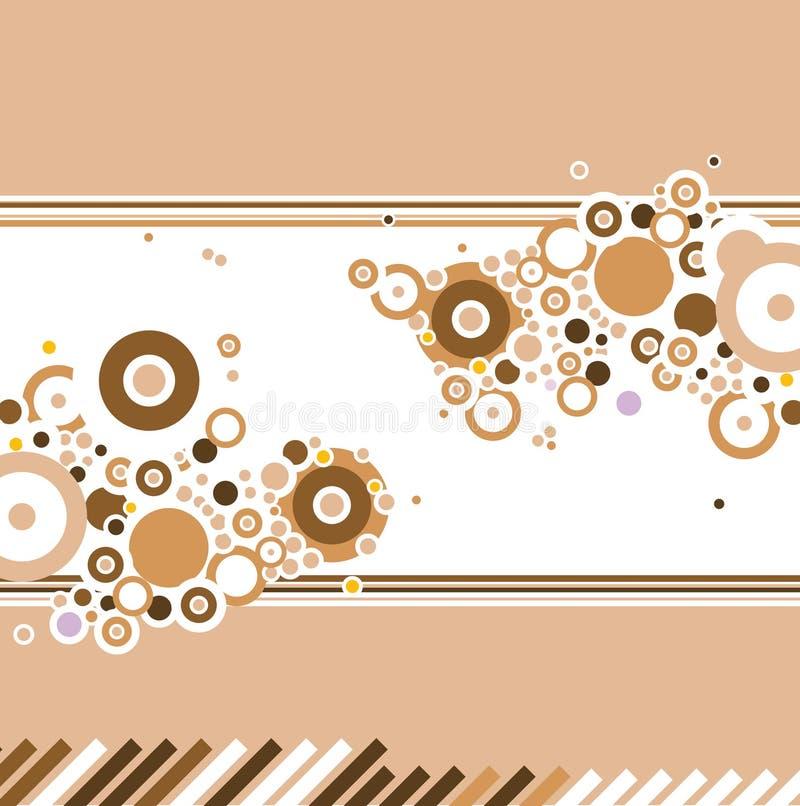 Le remous de café raye le blanc illustration libre de droits