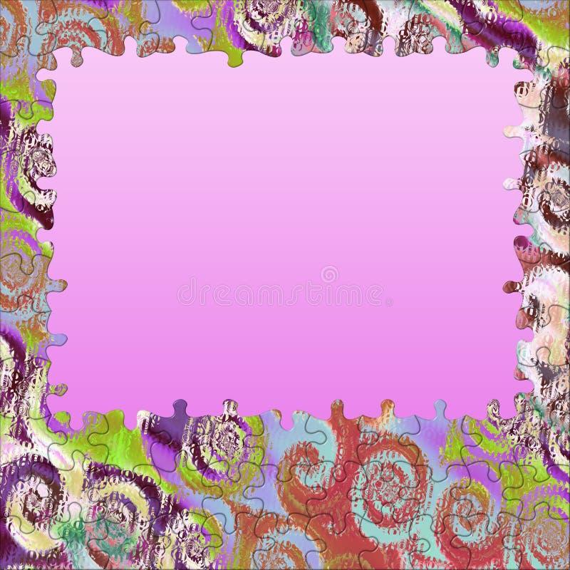 Le remous de fond colore la trame de puzzle illustration libre de droits